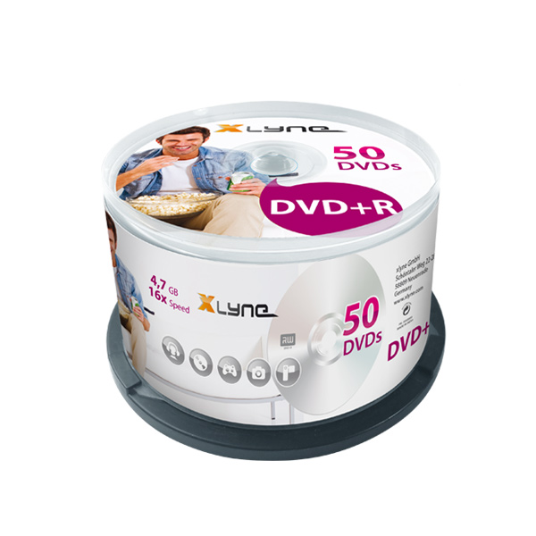 XLYNE-50er-DVD+R-Cakebox