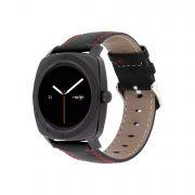 Herren Smartwatch Android rund iOS Smartwatch Herren Smart Watch Leder Armband Smartwatch