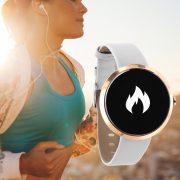 Damen Smartwatch Android rund iOS Smartwatch Damen Fitness Tracker Uhr